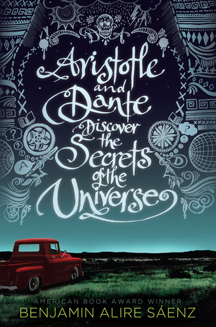 """Image shows the book cover for """"Aristotle and Dante Discover the Secrets of the Universe"""""""